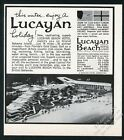 1965 Lucayan Beach Hotel casino Freeport Bahamas photo vintage print ad