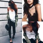 New Fashion Women V-Neck Spaghetti Strap Sleeveless Patchwork Sexy Loose S0BZ