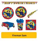 FIREMAN SAM - Birthday Party Range - Tableware Balloons & Decorations