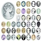 Vintage Style Resin Flatback Cameo Cabochon Embellishments Settings 57 Styles OB