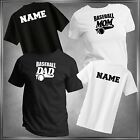 Baseball Mom, Dad or (U-Decide) & Personalize T-Shirt All Adult Sizes XS - 6XL