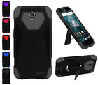 For ZTE Warp 7 Grand X 3 Premium Shock Proof Hybrid T Kickstand Cover Case
