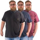 Kangol Plus Size Mens Casual Polo Shirt Collared Short Sleeve Tee Pocket 2XL-5XL