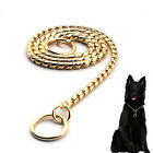 Snake Chrome Chocker Chain Dog Show Collars Dog Training Necklace Gold Silver