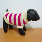 Dog Cat Puppy Clothes Knitted Jumper Sweater Coat Hot Pink Sizes XS S M L XL