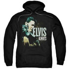 Elvis Presley Always The Original Mens Pullover Hoodie Black
