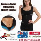 Women's Slimming Neoprene Vest Hot Sweat Shirt Body Shapers for Weight Loss AU