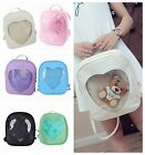 Womens Transparent Heart Shaped Backpack Schoolbag Travel Hiking Bags 6 colors