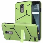 For LG Stylo 3 Stylo 3 Plus Slim Helix Hybrid Dual Layer Kickstand Cover Case