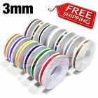 "3mm 1/8"" PIN STRIPE PinStriping Body Trim TAPE Decal Stickers Car Motorcycles"