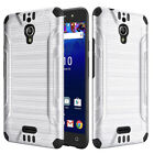 Cases Covers Skins - For Alcatel Pixi Theatre Brushed Dual Layer Slim Armor Hybrid Cover Case