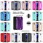 For Alcatel Pixi Theatre Brushed Dual Layer Slim Armor Hybrid Cover Case