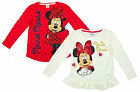 Girls Disney Minnie Mouse Pack of 2 Long Sleeve Tops 1½-2 Years