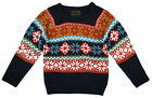 Boys Soul & Glory Snowflake Knitted Jumper NAVY 3 to 4 Years SALE
