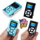 USB Mini MP3 Player LCD Screen Support 32GB Micro SD TF Card Music MP3 Player US