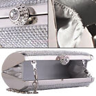 Women Party Wedding Prom Ladies Evening Crystal Diamante Clutch Box Purse Bags