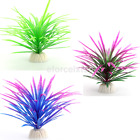 Artificial Aquatic Plastic Green Purple Grass Plant Aquarium Fish Tank Decor hot
