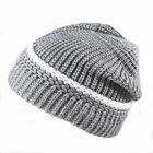 New White Line warm Black Beanie hat ski Cable Knit hats cap Unisex warm hat