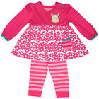 Girls Baby Hippo Motif 2 Piece Dress Top & Leggings Set 6-9 Months SALE