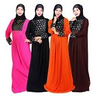 Arab Women Long Sleeve Robe Muslim Islamic Lady Loose Kaftan Abaya Dress Clothes