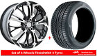 """Alloy Wheels & Tyres 17"""" Dare Ghost For Toyota Corolla Verso [Mk3] 04-09"""