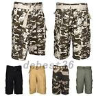 Men Military Cargo Shorts Combat Cotton Camouflage Outdoor Trousers Half Pants