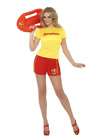 Adult Baywatch Beach Babe Lifeguard Patrol Fancy Dress Costume 1980's Classic