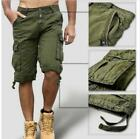 Mens Cotton Blend Overall Short Trouser Pocket Cargo Army Summer Loose Pants