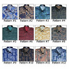 Shirt Mens Thai Silk Patterned/Short-Long Sleeve/Casual Hawaiian Paisley Vintage