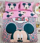 2017 New Mickey Mouse Bedding Set 4pc Queen King Size PINK RARE