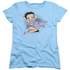 Betty Boop All American Girl Womens Short Sleeve Shirt $20.95 USD