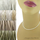2 mm White+ Leather Cord Necklace or Choker Custom Length ur colors Handmade USA
