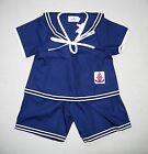 BABY BOYS SAILOR OUTFIT Dark Navy Blue Wedding Christening Pyjama Cotton Clothes