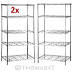 5 Tier Heavy Duty Metal Chrome Kitchen Garage Storage Shelving Shelf Wire Rack <br/> Sturdy and Rust Resistant * 30KG Each Layer* 1 Yr Wrnty