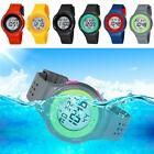Pretty Silicone LED Light Digital Waterproof Sports Wrist Watches Pores Swimming
