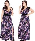 (200)PLUS SIZE LONG MIX BEACH EVENING PROM PARTY DRESS SIZE:XL-6XL