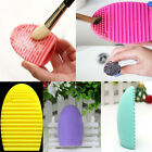 Silicone Makeup Egg Brush Cleaner Pad Washing Scrubber Board Cleaning Mat Tool