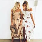 Women Summer Vintage Boho Long Maxi Dress Party Beach Dress Floral Sundress New
