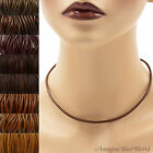 3 mm Brown Leather Cord Necklace or Choker Custom Length pck colors Handmade USA