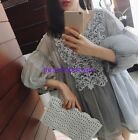 Summer Chiffon Womens Tops Embroidery V Neck Batwing Sleeve Loose Shirts