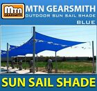 New Deluxe Rectangle Square Sun Sail Shade Canopy Top Cover Color Blue-Option