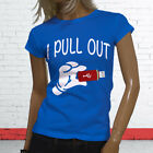 I PULL OUT FUNNY NERD GEEK HUMOR COMPUTERS USB Womens Blue T