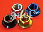 M12 x 1.25 Pitch Titanium / Ti Sprocket Flange Bolt Nut - Ti Gold Blue Black