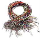10 Pcs Many Colors Leather Charm Necklace DIY Cord Jewelry Accessories 1.5 mm