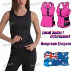 AU Women Sport Trainer Belt Sweat Vest Tank Top Adjustable Waist Trimmer Shaper