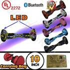 "UL 2272 10"" Hoverboard Self Balancing 2 Wheel Electric Scooter LED Bluetooth+Bag"