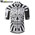 WEIMOSTAR Men Cycling Jersey mtb Bike Riding  skull Clothing Short Sleeve Shirt