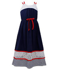 Bonnie Jean Girls Americana 4th of July Strappy Lace Maxi Dress 4 5 6 7 New