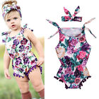 Newborn Adorable Baby Girl Romper Jumpsuit Bodysuit Outfit Sunsuit Clothes 0-24M