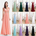 Women V Neck Long Prom Evening Dress Formal Gown Bridesmaid 08697 Ever-Pretty